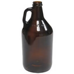 G007 1/2 Gallon Amber Glass Jug