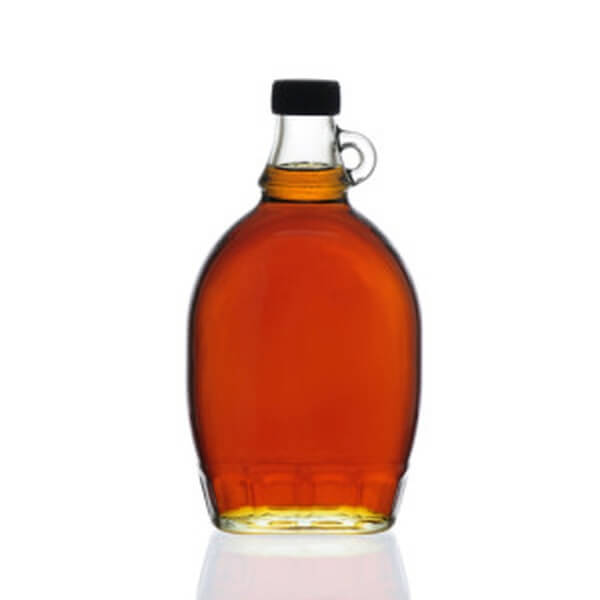 G032 12 oz Flint Glass Syrup Bottle