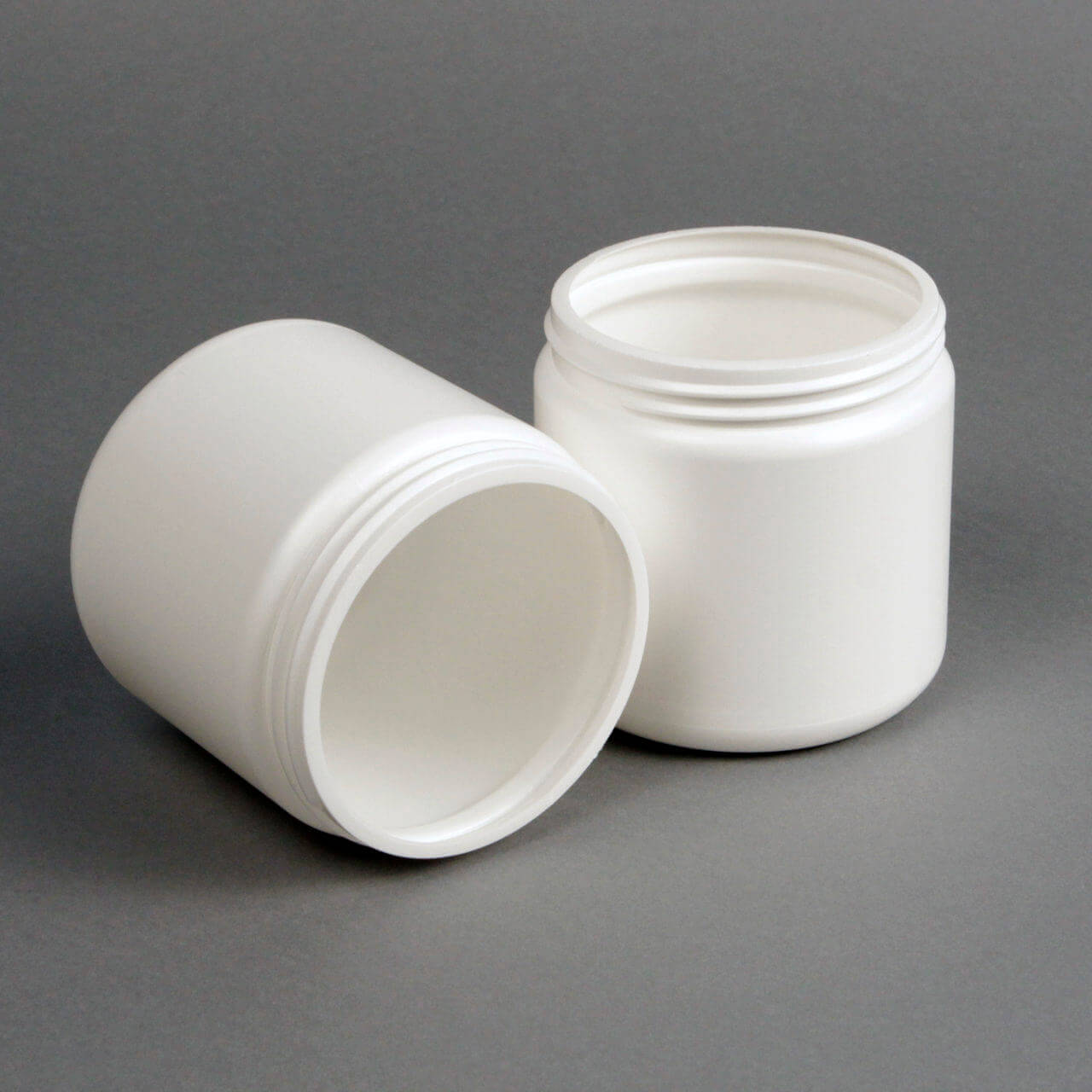 16 oz White HDPE Wide Mouth Jar 89-400 35gm- B209W