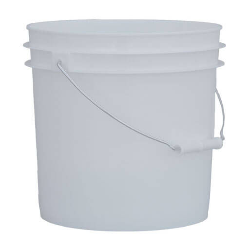 2 Gallon White Pail wMetal Handle P010