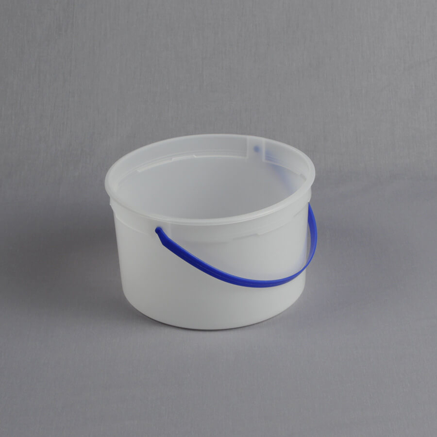 128 Oz Natural Hdpe Tub With Blue Handle Tb156