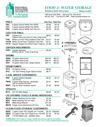 Current Food & Water Storage Pricing Flyer