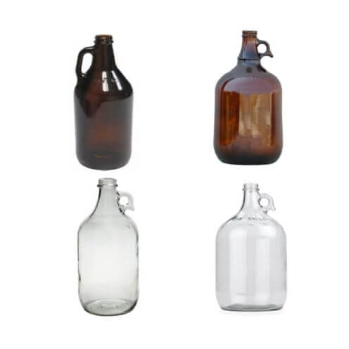 Narrow Mouth Glass Bottles