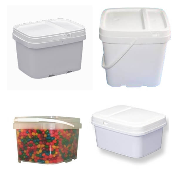 Ez-Stor Plastic Buckets/Pails and Lids